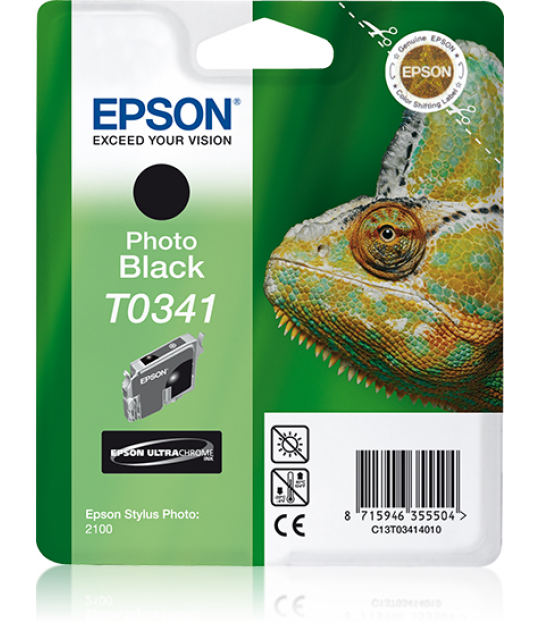 C13T034140 Black Ink Cartridge for Stylus Photo 2100
