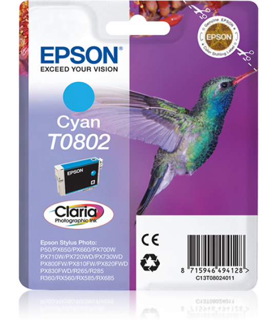 T0802 Cyan Ink Cartridge